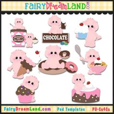 Pig Out CU Template Collection by FairyDreamLand.com