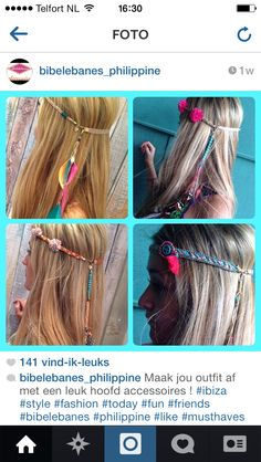 Haarbandjes ibiza stijltje!