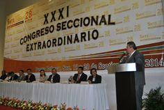 Inaugura alcalde el XXXI Congreso de la sección 28 del SNTE. Centro de Convenciones.