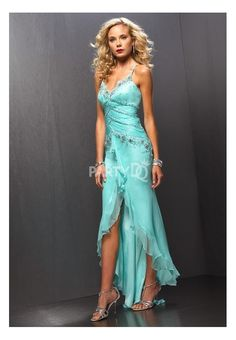 Sexy High Low Semi Formal Dress With Beaded Bodice