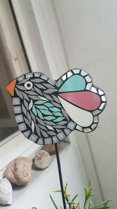 Mosaic Animals, Mosaic Birds, Glass Mosaic Tiles, Mosaic Wall, Mosaic Garden Art, Glass Garden Art, Stained Glass Ornaments, Garden Ornaments, Mosaic Projects