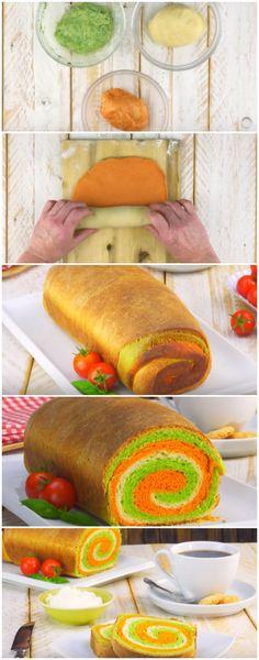 O Pão Mais Lindo que Você Vai Ver! E por incrível que pareça é também super fácil de fazer! #pão #pãocolorido #pãoarcoiris