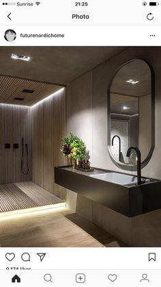 Credit: futurenordichome Brown Bathroom, Bathroom Spa, Bathroom Toilets, Washroom, Bathroom Storage, Modern Bathroom, Bathroom Lighting, Bathroom Remodeling, Small Bathroom