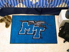 Middle Tennessee State Mtsu Blue Raiders Starter Rug/Carpet Welcome/Door Mat