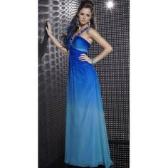 Studio 17 Ombre Chiffon Evening Dress 12260 by House of Wu. #Halter, #Blue, #Empire, #Evening, #Chiffon, #Dress. Only $302.99