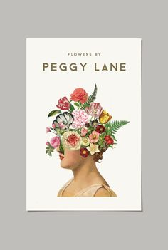 Peggy Land Florist logo. Poster, busines card. 2015