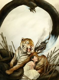 Sam Weber for Jane Lindskold's The Thirteen Orphans, a fantasy novel based on the Chinese zodiac.
