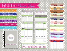 The Polka Dot Posie: NEW Printable Planner Pages