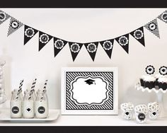 Congratulate your new grad in style with this charming Graduation Party Decoration Kit. These graduation themed decoration kits will appeal to both male and female grads. Give your grad a party to rem