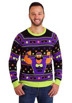 Beautiful WWE Macho Man Ugly Christmas Sweater mens ugly christmas sweater from top store Mens Ugly Christmas Sweater, Costumes For Teens, Yarn Sizes, Sweater Making, Being Ugly, Fashion Brands, Active Wear, Men Sweater, Graphic Sweatshirt