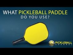 What Pickleball Paddle Do You Use?