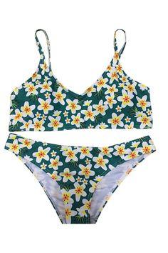 c7c58f486b Floral Printing Two-piece Swimwear. Two Piece SwimwearWomen SwimsuitsSummer  ...