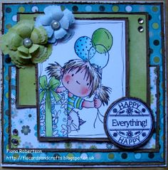 handmade card using Peek a Boo Birthday from Sugar Nellie @ www.funkykits.co.uk http://fiscardsandcrafts.blogspot.com