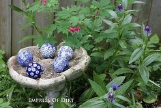Pick a Color, Any Color Blue and white decor looks gorgeous indoors but it's also a beautiful choice for gardens as well. You could choose any color theme you like. I chose blue because: a) I love it (best...