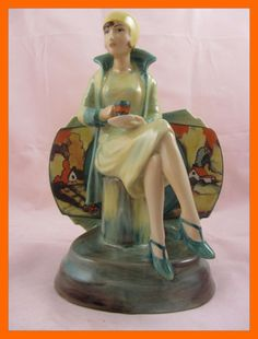 KEVIN FRANCIS Clarice Cliff Afternoon Tea Lady Figurine LIMITED CERTIFICATE | eBay