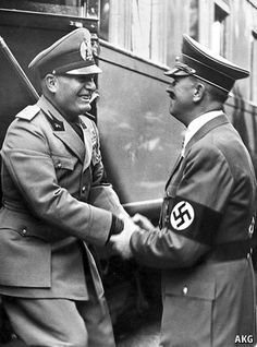 Hitler and Mussolini Italian Empire, Italian Army, Germany Ww2, The Third Reich, European History, Second World, World War Two, Wwii, The Past
