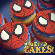 🕷 SPIDER-MAN! enough said! #spidermancupcakes #makeawishcakes Spider Cupcakes, Make A Wish, Best Memories, Custom Cakes, Yummy Cakes, How To Make Cake, Spiderman, Cake Decorating, Special Occasion