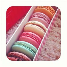 Macarons from 'Lette Macarons in Old Town Pasadena. Check! oh and they're soo delicious!