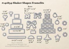 Stampin' Up! 2016 Holiday Catalog Framelits Sizes are ready for you!