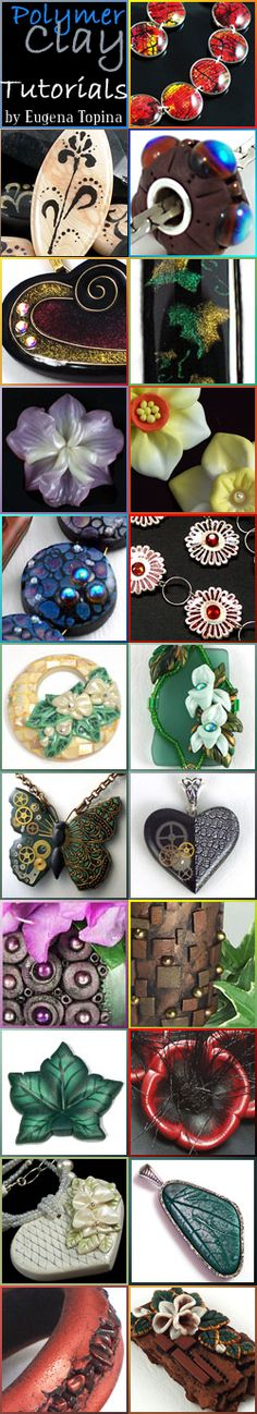 Free tutorials for beginners with polymer clay ...  http://eugenascreations.blogspot.com/p/free-tutorials-for-beginners.html