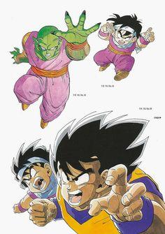 Piccolo,Goku and Gohan Dbz Manga, Manga Dragon, Akira, Best Animes Ever, Goku And Gohan, Dragon Ball Z Shirt, Dbz Characters, Game Character Design, Manga Love