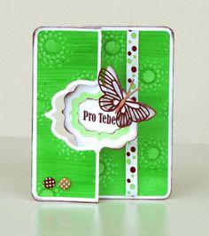 VyZa. Card. Swing. Flip. Škrobové barvy. Starch powder colours.