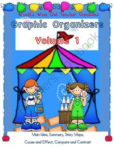 Graphic Organizers - 3 Lucky Winners.  A GIVEAWAY promotion for Graphic Organizers Volume 1 from Mrs. Wyatt's Wise Owl Teacher Creations on TeachersNotebook.com (ends on 4-13-2014)