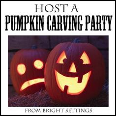 Host a Pumpkin Carving Party -- great ideas for your own Halloween party!