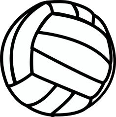 rainbow volleyball clip art sports equipment for physical rh pinterest com volleyball clipart vector volleyball clipart images