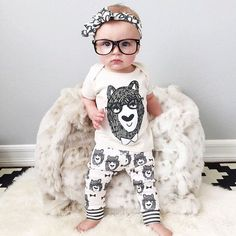 Trendy baby clothes kids clothes sets t-shirtpants by RemoliStudio                                                                                                                                                      More