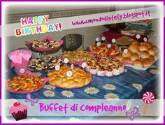 Buffet di salati per un compleanno