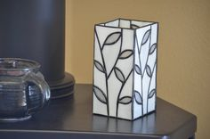 Stained Glass Leaf Vase