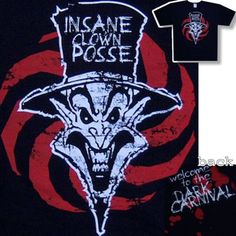 INSANE CLOWN POSSE RINGMASTER SPIRAL T-SHIRT 2XL ICP