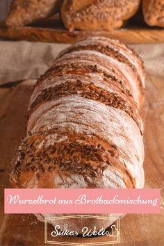 """Ein Wurzelbrot aus einer Brotbackmischung zaubern? Ja, das geht! Ich zeige es Dir am Beispiel der Brotbackmischung aus dem Hause """"Onkel-Huberts-Mühle. Dort gibt es gute Mehlmischungen ohne Zusätze. Das Rezept findest Du auf meinem Blog und einen Gutscheincode, der Dir beim sparen hilft. Schau Dir das Rezept an, das kannst auch Du! #silkeswelt #backmischung #brot"""