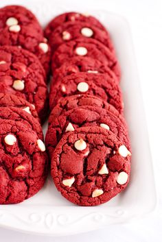 Classy Red Velvet White Chocolate Chip Cookies