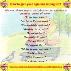 how to give an opinion in English - learning basic English