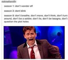the rules // Doctor Who. So truuuue. We all know it's true.