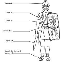 Dibujos Cristianos Para Colorear: Dibujo de Soldado Romano para ...