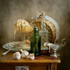 Fotografia Sauerkraut and Green Bottle de Nikolay Panov na 500px