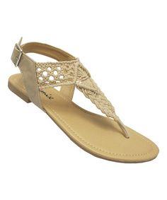 Look what I found on #zulily! Beige Baily Sandal by Yoki #zulilyfinds
