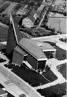"""""""Christuskirche (1962-63) in Dormagen, Germany, by Klaus Heubel"""""""