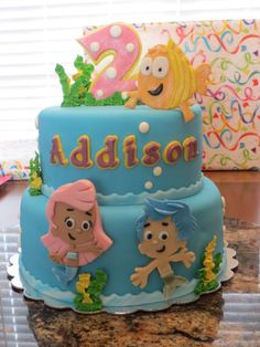 Our Bubble Guppies cake