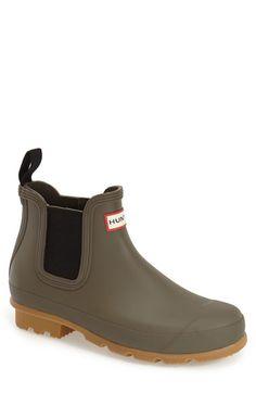 Hunter 'Original' Gum Sole Chelsea Rain Boot (Men) available at #Nordstrom