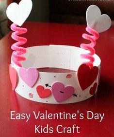 Valentine's Day Crafts For Kids, Valentine Crafts For Kids, Daycare Crafts, Valentines Day Activities, Valentines Day Party, Preschool Crafts, Party Activities, Party Games, Valentine Hats