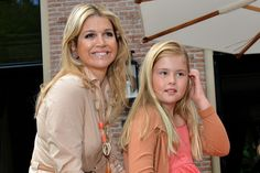 Princess Catharina-Amalia and Queen Maxima....... Crown Princess Catharina-Amalia was 10 years old on Dec. 7, 2013 (Picture taken on July 19, 2013)