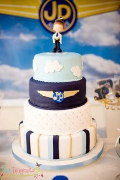 Airplane Airline Pilot Themed Boy 1st Birthday Party Planning Ideas #aviationparty