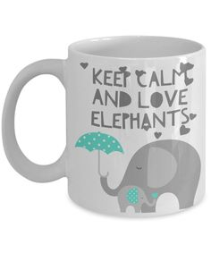 Keep Calm And Love Elephants Novelty Mug
