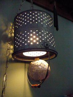 Minnow Bucket Swag Lamp. $55.00, via Etsy.