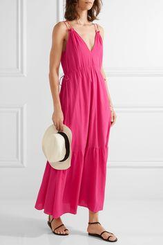 APIECE APART | Daphne cotton-crepon maxi dress | NET-A-PORTER.COM