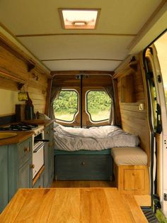 Beautiful RV Camper Does Van Life Remodel Inspire You. You're likely to have to do something similar for van life also. Van life lets you be spontaneous. Van life will consistently motivate you to carry on. Sprinter Camper, Camping Car Sprinter, Kangoo Camper, Van Camping, Camping Diy, Luxury Camping, Interior Trailer, Campervan Interior, Campervan Bed